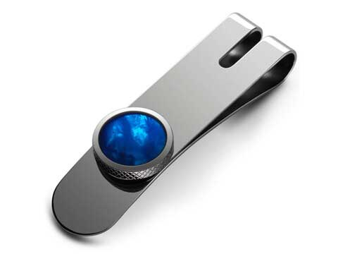 Torque Money Clip Blue Mother of Pearl Thumbnail